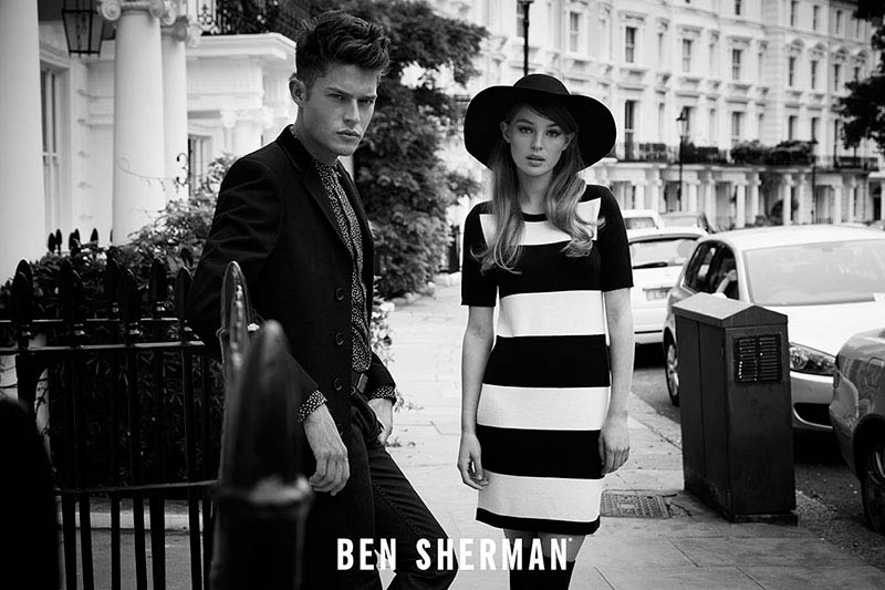 ben sherman fall 2014 campaign2 Millie Loggie is 60s Chic in Ben Sherman Fall 2014 Ads by Sam Bisso
