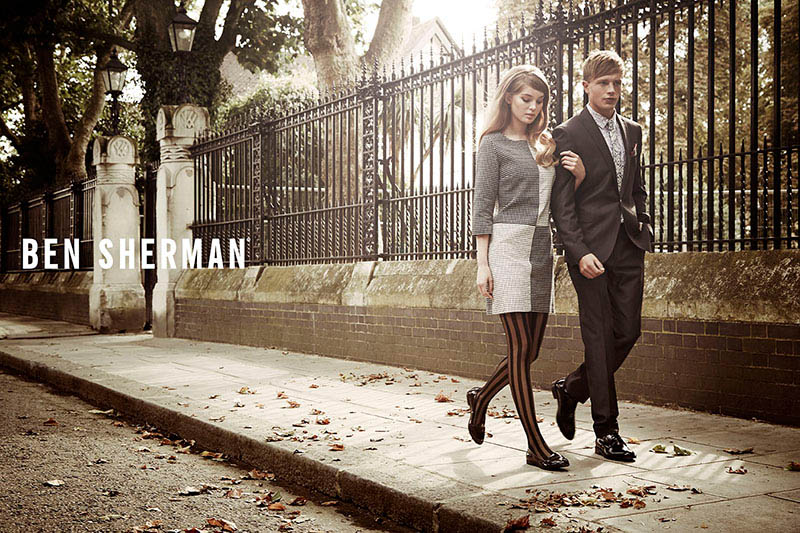 ben sherman fall 2014 campaign3 Millie Loggie is 60s Chic in Ben Sherman Fall 2014 Ads by Sam Bisso