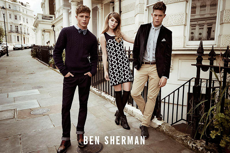 ben sherman fall 2014 campaign4 Millie Loggie is 60s Chic in Ben Sherman Fall 2014 Ads by Sam Bisso