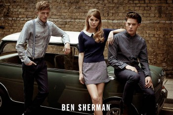Millie Loggie is 60s Chic in Ben Sherman Fall 2014 Ads by Sam Bisso