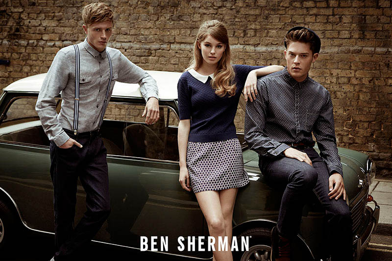 ben sherman fall 2014 campaign5 Millie Loggie is 60s Chic in Ben Sherman Fall 2014 Ads by Sam Bisso