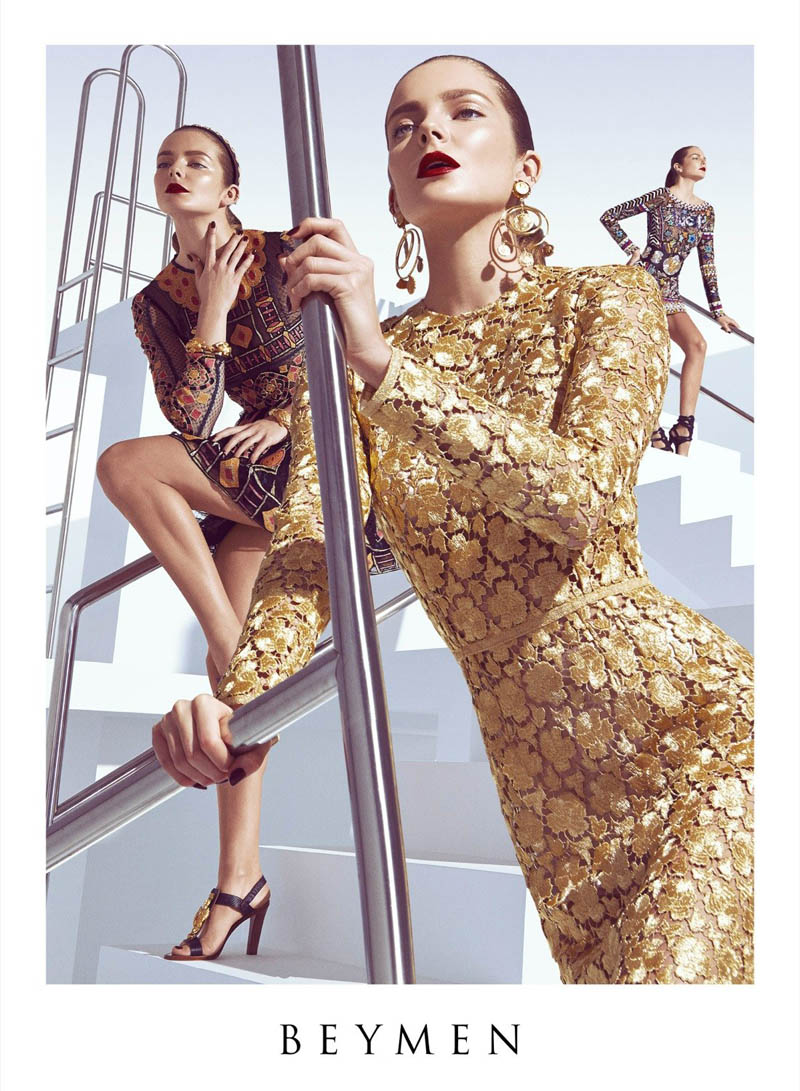 beymen spring 2014 campaign1 Eniko Mihalik Gets Glam for Beymen Spring 2014 Ads by Koray Birand