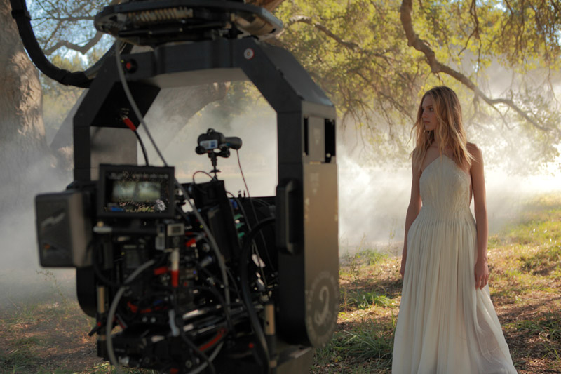 "Vanessa Axente on set of the ""Endless Euphoria"" campaign"