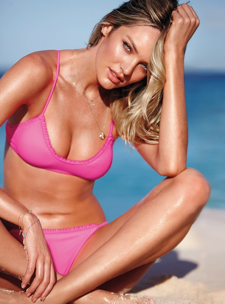 Bombshell Alert! Candice Swanepoel Models Bikinis in Victoria's Secret Shoot