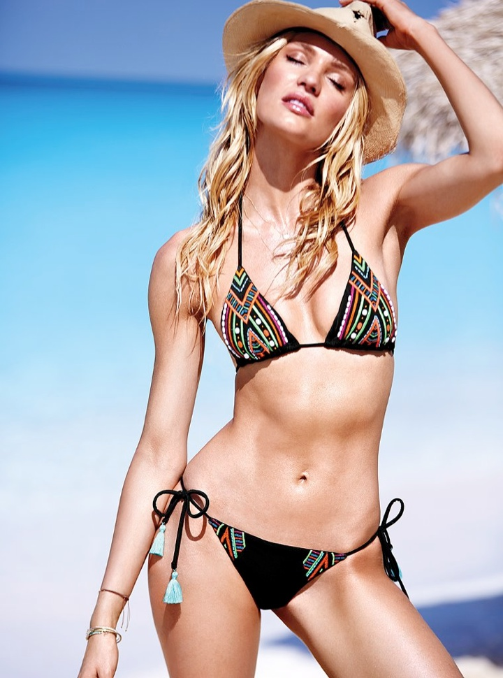 candice swanepoel bikini shoot2 Bombshell Alert! Candice Swanepoel Models Bikinis in Victorias Secret Shoot