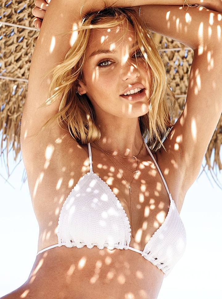 candice swanepoel bikini shoot4 Bombshell Alert! Candice Swanepoel Models Bikinis in Victorias Secret Shoot