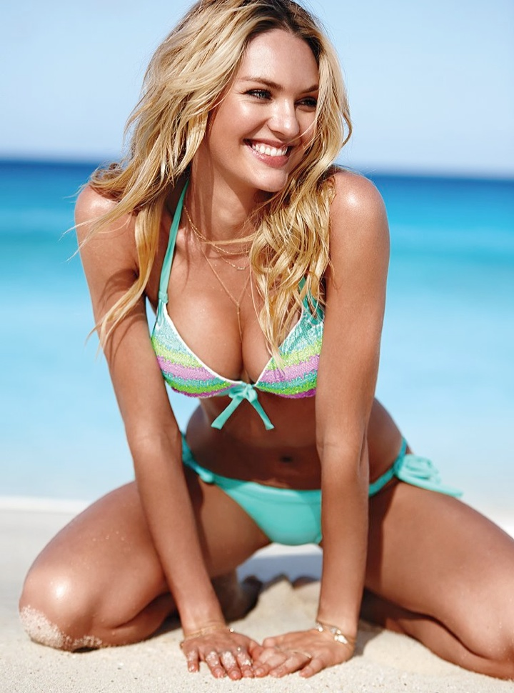 candice swanepoel bikini shoot9 Bombshell Alert! Candice Swanepoel Models Bikinis in Victorias Secret Shoot