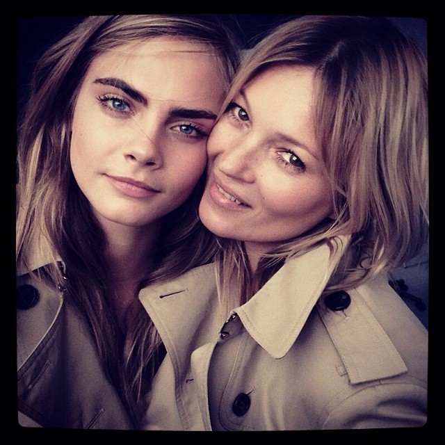 cara delevingne kate moss Kate Moss + Cara Delevingne to Pose in Burberry Campaign Together