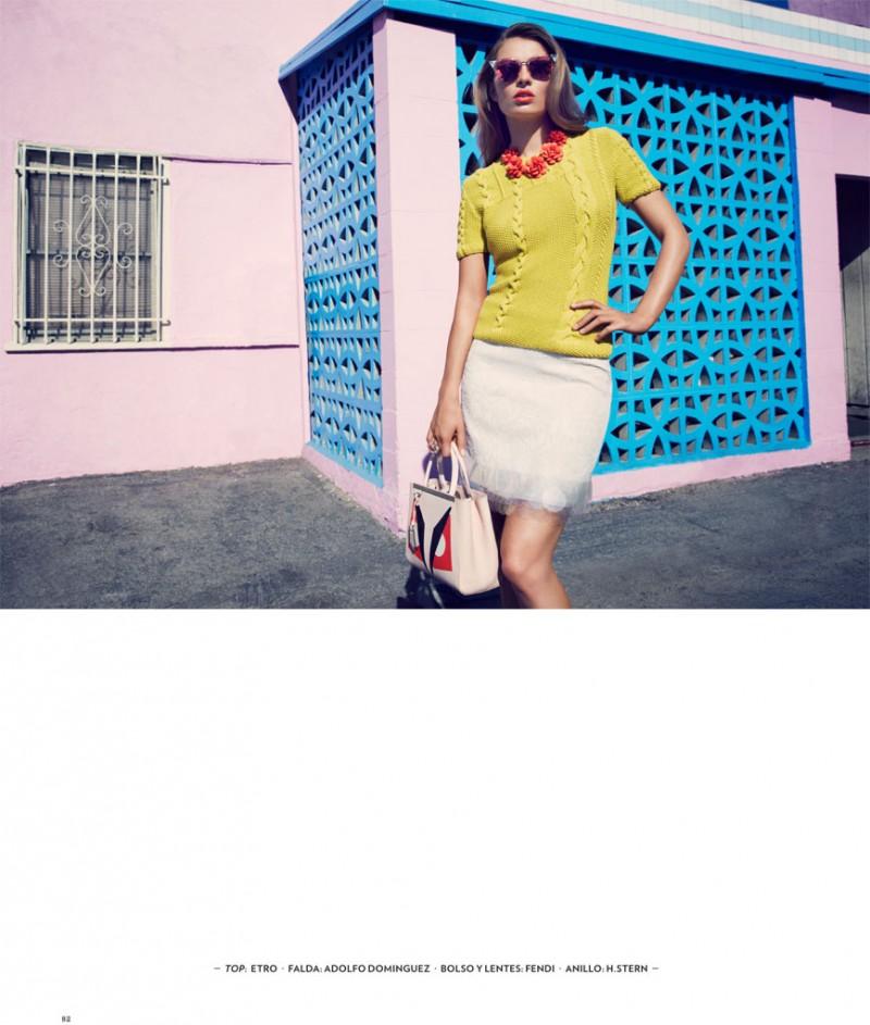 carola remer 2014 8 800x943 Carola Remer is Ladylike for El Libro Amarillo by David Roemer