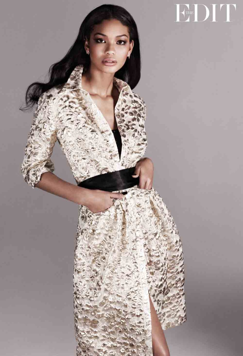 chanel iman photo shoot2 Chanel Iman Stars in The Edit, Calls Beyonce Positive and Uplifting