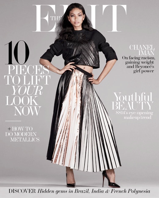 chanel iman photo shoot5 Chanel Iman Stars in The Edit, Calls Beyonce Positive and Uplifting