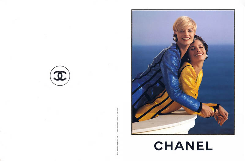 chanel spring 1991 campaign2 Throwback Thursday | Linda Evangelista & Christy Turlingtons Chanel Ads Are Very 90s