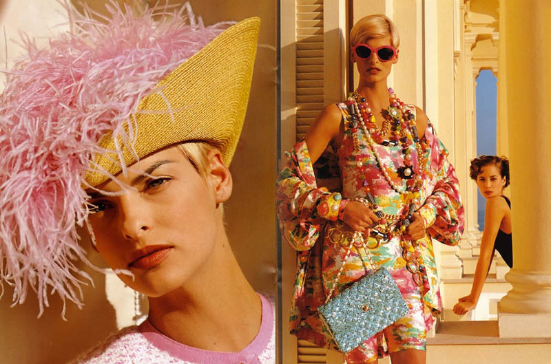 chanel spring 1991 campaign3 Throwback Thursday | Linda Evangelista & Christy Turlingtons Chanel Ads Are Very 90s