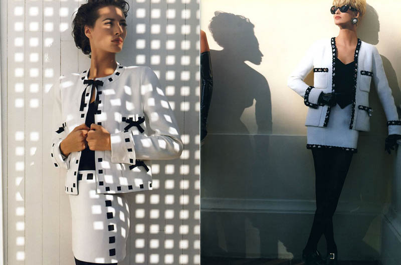 chanel spring 1991 campaign4 Throwback Thursday | Linda Evangelista & Christy Turlingtons Chanel Ads Are Very 90s