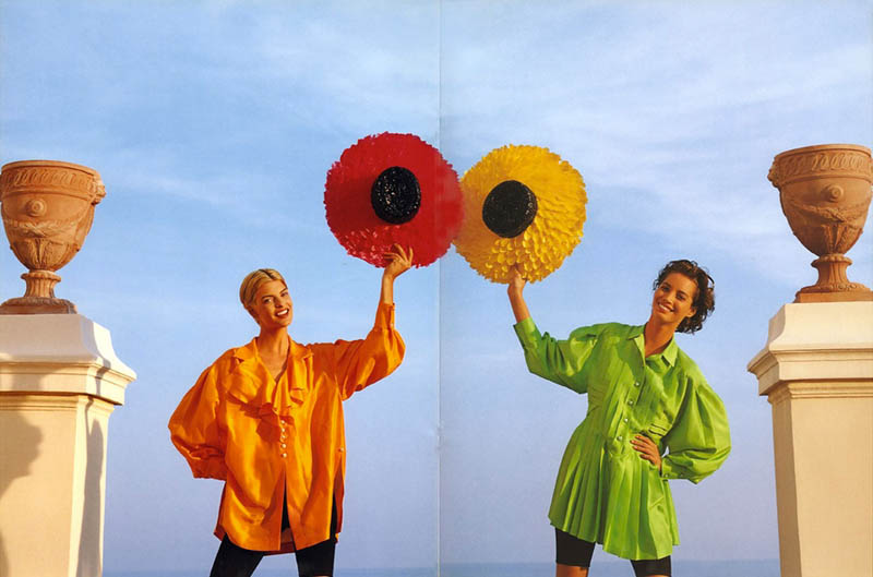 chanel spring 1991 campaign5 Throwback Thursday | Linda Evangelista & Christy Turlingtons Chanel Ads Are Very 90s