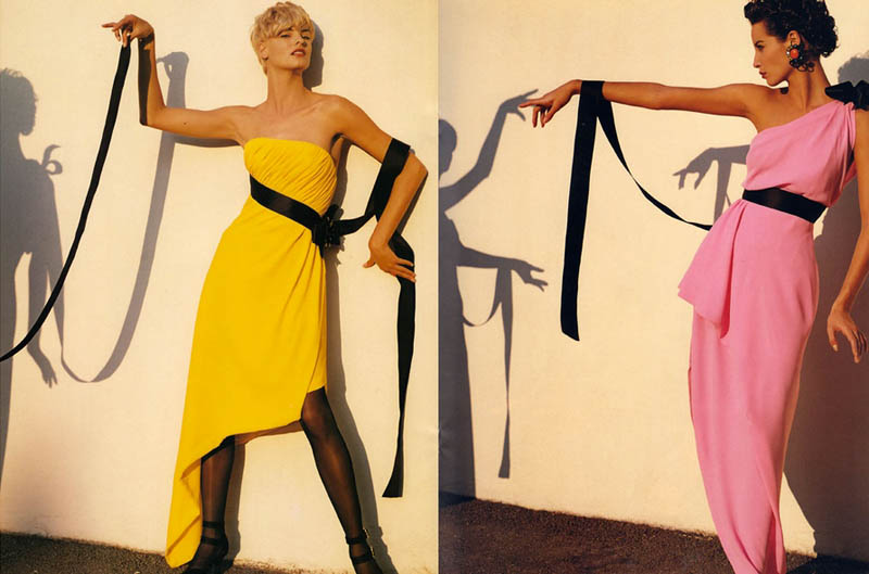 chanel spring 1991 campaign6 Throwback Thursday | Linda Evangelista & Christy Turlingtons Chanel Ads Are Very 90s
