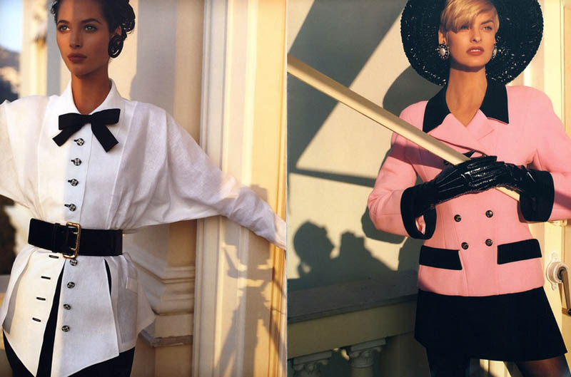 chanel spring 1991 campaign7 Throwback Thursday | Linda Evangelista & Christy Turlingtons Chanel Ads Are Very 90s