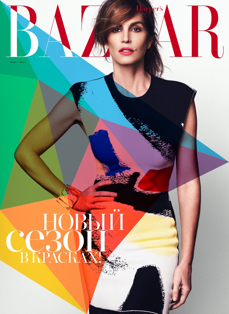 cindy crawford xavi gordo11 Supermodel Cindy Crawford Stuns for Xavi Gordo in Bazaar Russia Shoot