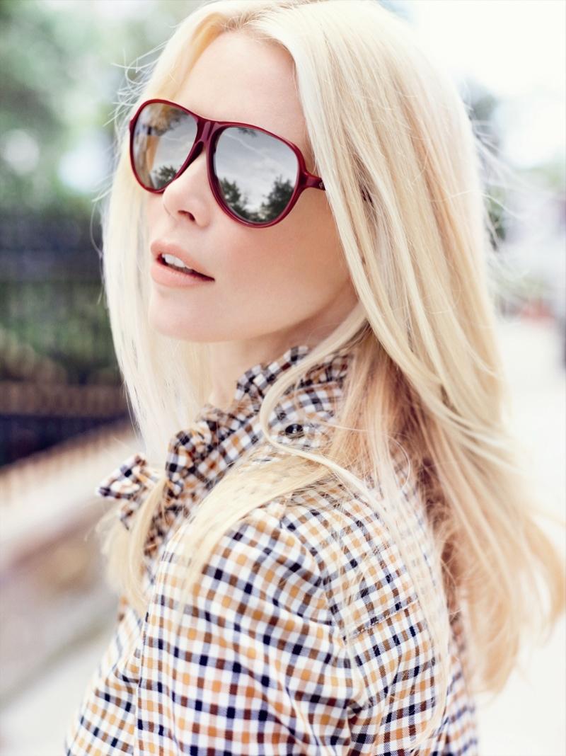 claudia schiffer rodenstock3 Claudia Schiffer Lands 2014 Rodenstock Eyewear Ads