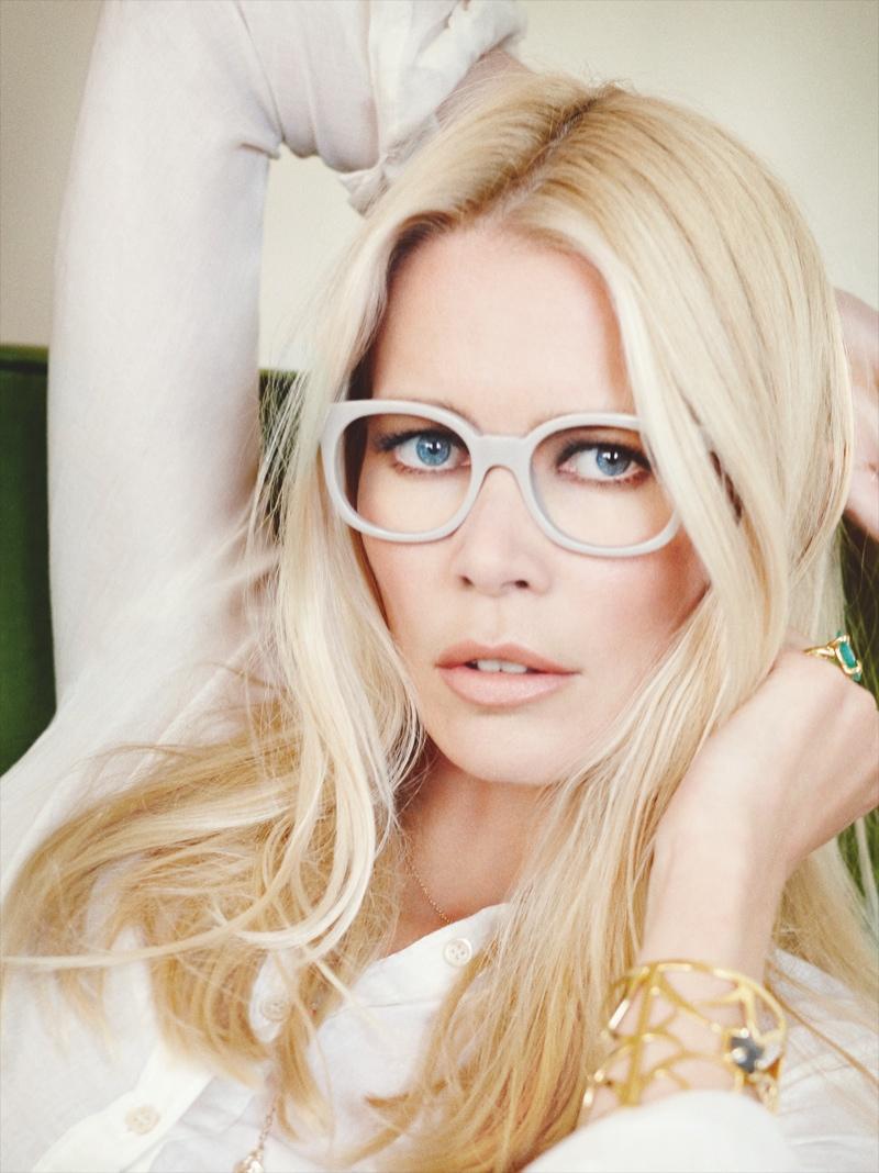 claudia schiffer rodenstock4 Claudia Schiffer Lands 2014 Rodenstock Eyewear Ads