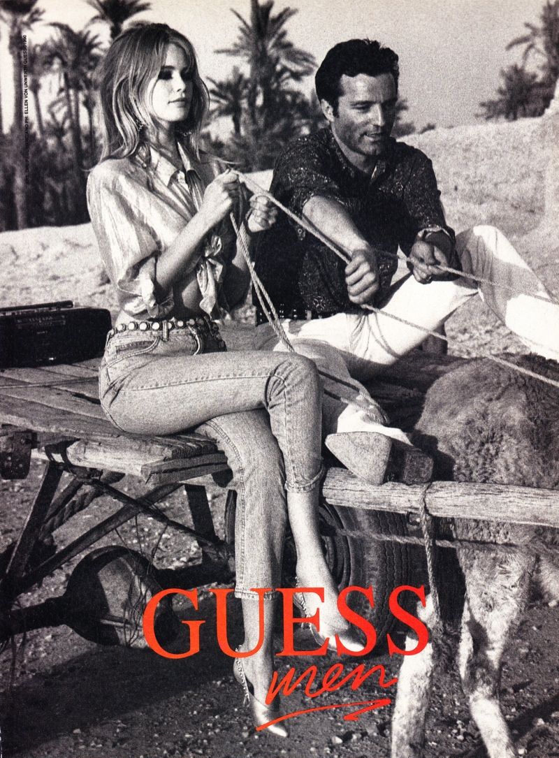 claudia schiffer vintage guess ads3 Throwback Thursday | Claudia Schiffer is a Bombshell in 1989 Guess Ads