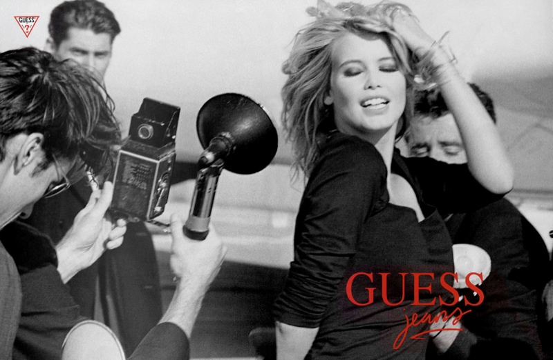 claudia schiffer vintage guess ads5 Throwback Thursday | Claudia Schiffer is a Bombshell in 1989 Guess Ads