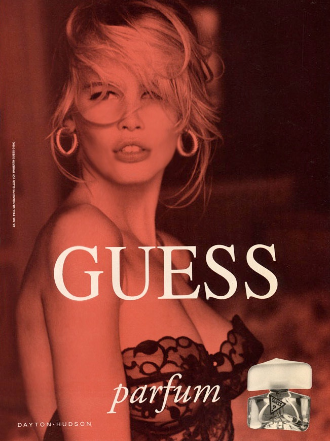 claudia schiffer vintage guess ads8 Throwback Thursday | Claudia Schiffer is a Bombshell in 1989 Guess Ads