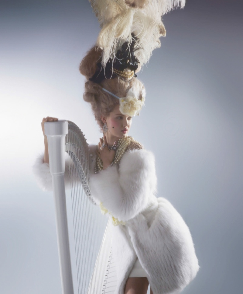 Karl Lagerfeld Shoots Lindsey Wixson in Marie Antoinette Couture for Harper's Bazaar
