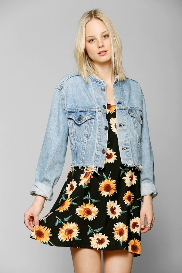 crop denim jacket 7 Coachella Style Essentials