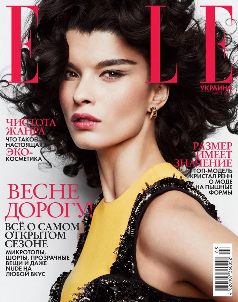 crystal renn photo shoot1 800x1018 Crystal Renn Works It for Elle Ukraine March 2014 Cover Shoot