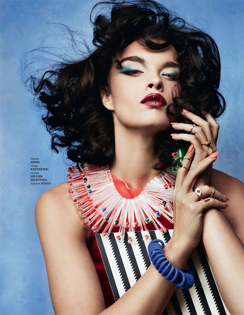 Crystal Renn Works It for Elle Ukraine March 2014 Cover Shoot
