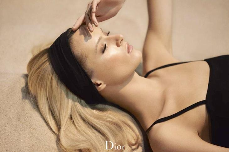 Daria Strokous Soaks Up Sun for Diorskin Nude Tan Bronzer Ad