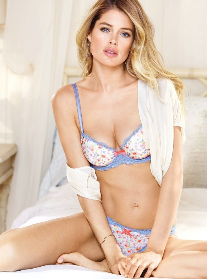 doutzen vs lingerie5 Doutzen Kroes Wows in New Victorias Secret Photos