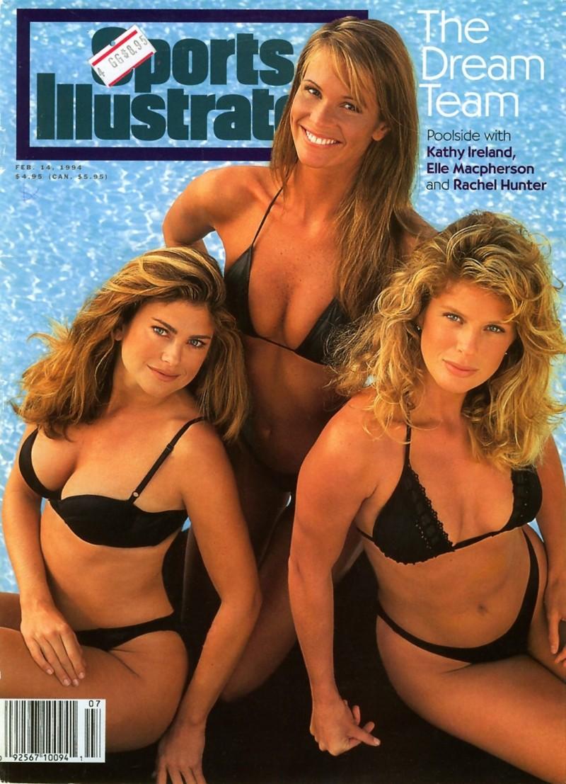 Kathy Ireland, Elle MacPherson, Rachel Hunter SI Swimsuit Cover 1994