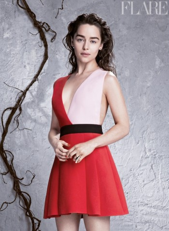 Emilia Clarke Lands FLARE Cover, Reveals Truth About Red Carpet