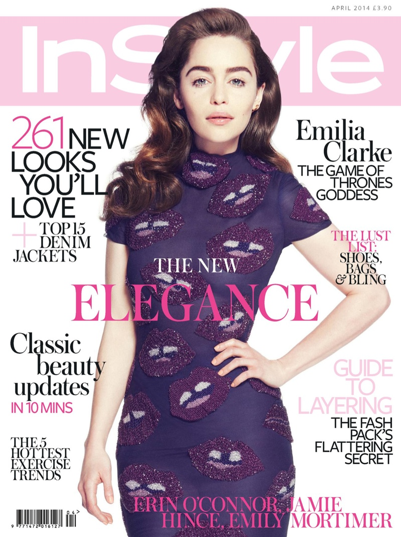 emilia clarke sofia mauro1 Game of Thrones Emilia Clarke Poses for Sofia & Mauro for InStyle UK Shoot