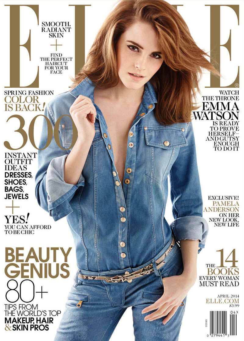 emma watson elle 2014 3 Emma Watson Lands Elle Cover, Talks Growing Up in the Spotlight