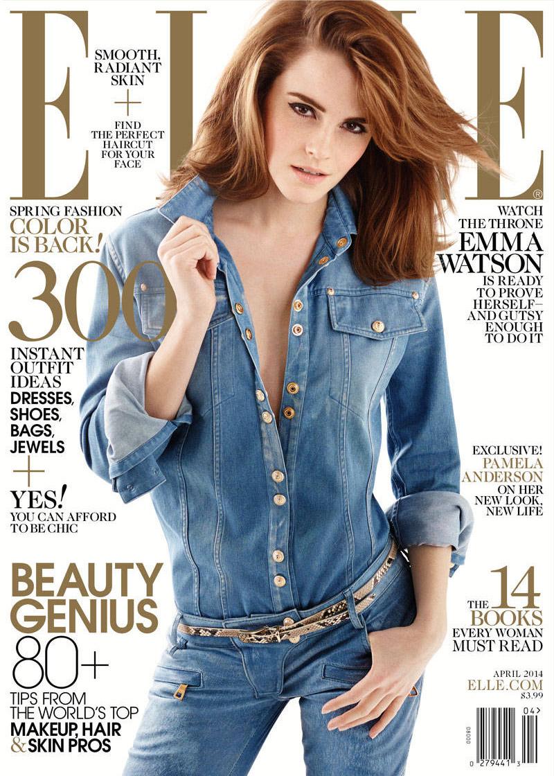 emma watson elle 2014 3 Emma Watson Lands Elle Cover, Talks Growing Up in the Spotlight