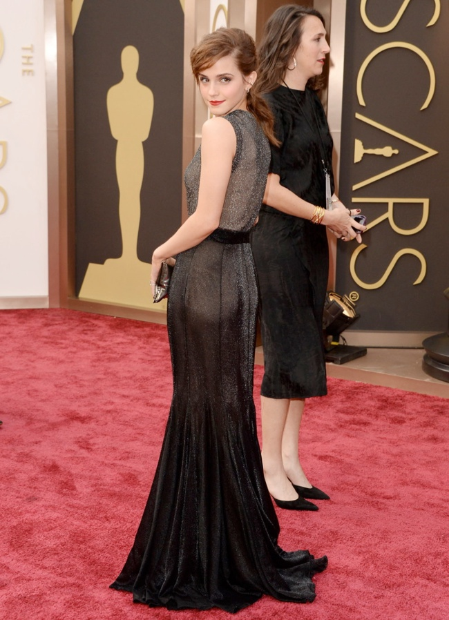emma watson vera wang oscars 2014 Oscars Red Carpet Looks
