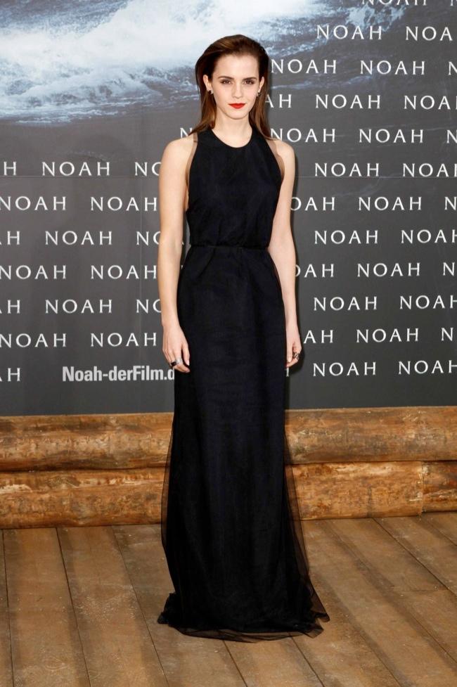 emma watson wes gordon dress2 Emma Watson Looks Simply Stunning in Wes Gordon at Noah Berlin Premiere