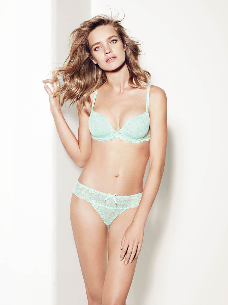 etam lingerie spring 2014 collection1 Bedroom Eyes: Natalia Vodianova Models Etams Spring 2014 Lingerie Line