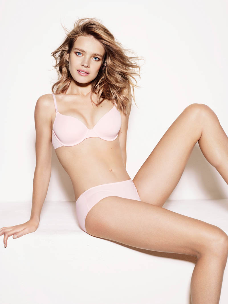 Natalia Vodianova Models Etam Spring 2014 Lingerie Collection