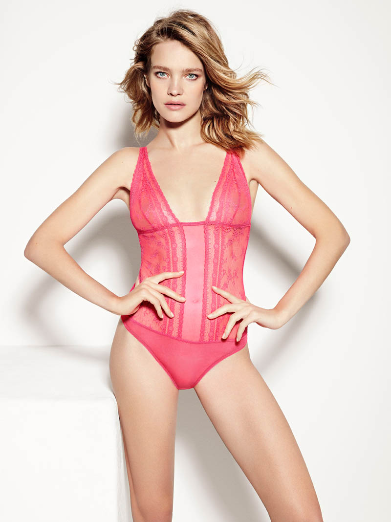 etam lingerie spring 2014 collection13 Bedroom Eyes: Natalia Vodianova Models Etams Spring 2014 Lingerie Line