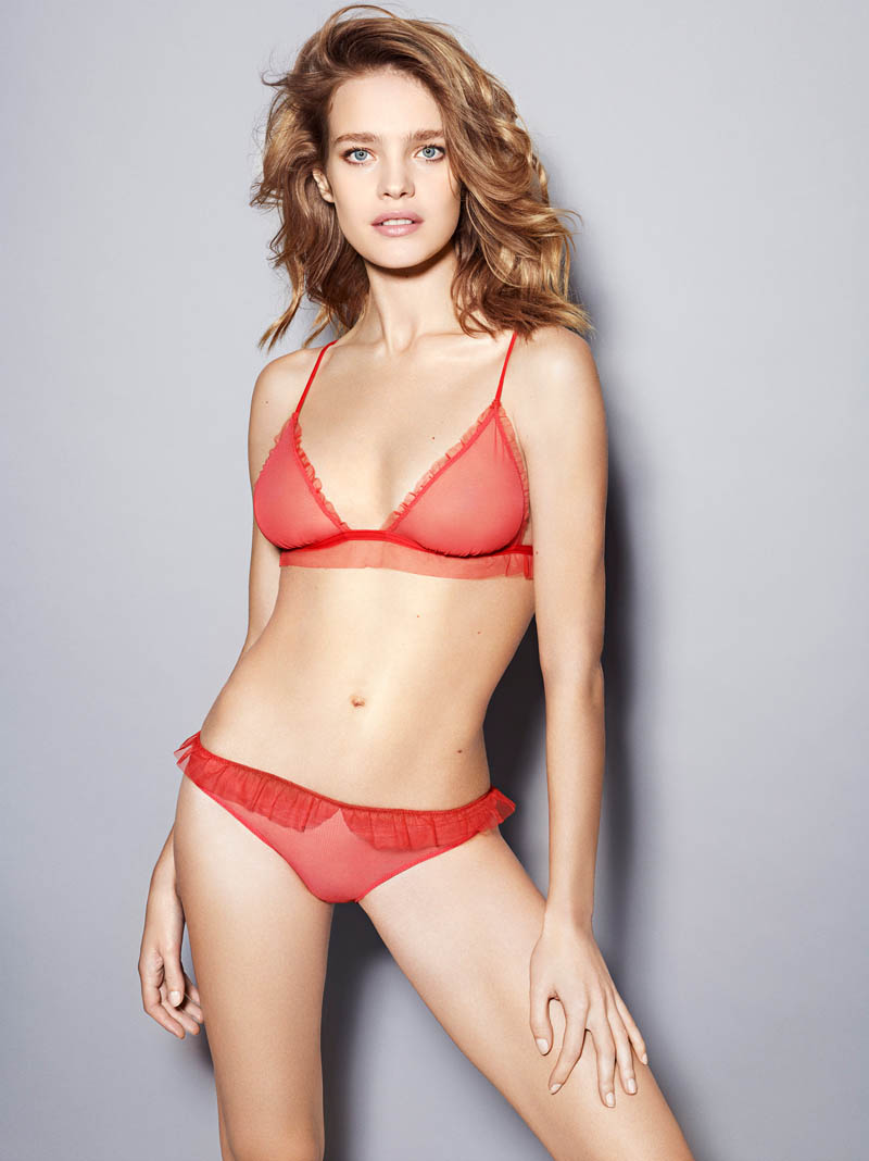 etam lingerie spring 2014 collection14 Bedroom Eyes: Natalia Vodianova Models Etams Spring 2014 Lingerie Line