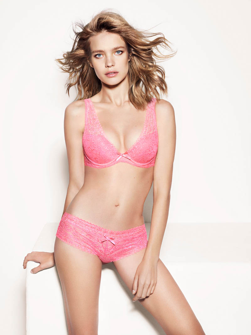 etam lingerie spring 2014 collection2 Bedroom Eyes: Natalia Vodianova Models Etams Spring 2014 Lingerie Line