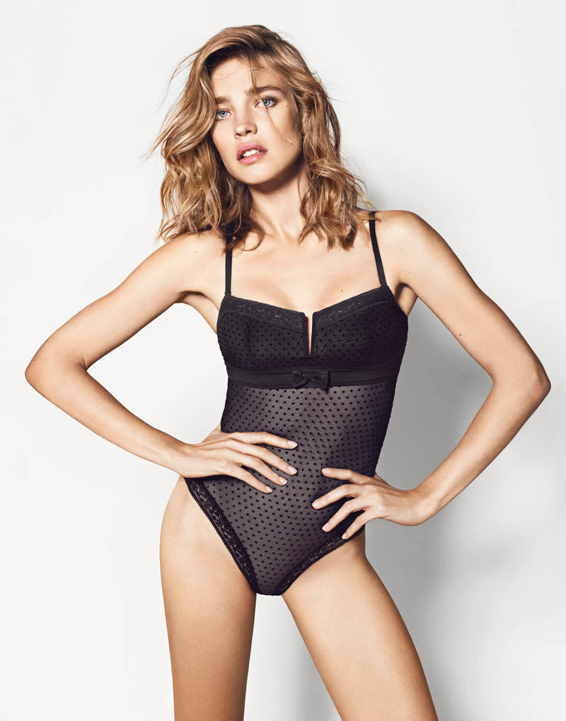 etam lingerie spring 2014 collection3 Bedroom Eyes: Natalia Vodianova Models Etams Spring 2014 Lingerie Line