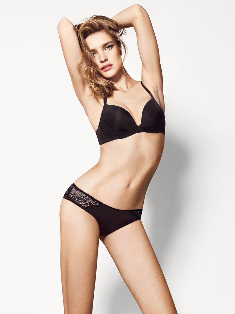 etam lingerie spring 2014 collection5 Bedroom Eyes: Natalia Vodianova Models Etams Spring 2014 Lingerie Line