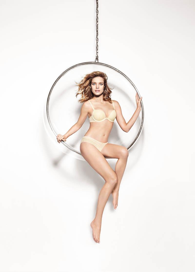 Bedroom Eyes: Natalia Vodianova Models Etam's Spring 2014 Lingerie Line
