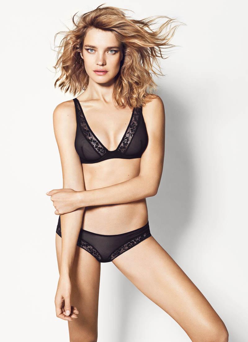 Natalia Vodianova Models Etam Spring 2014 Lingerie