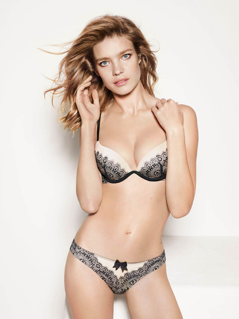 etam lingerie spring 2014 collection8 Bedroom Eyes: Natalia Vodianova Models Etams Spring 2014 Lingerie Line